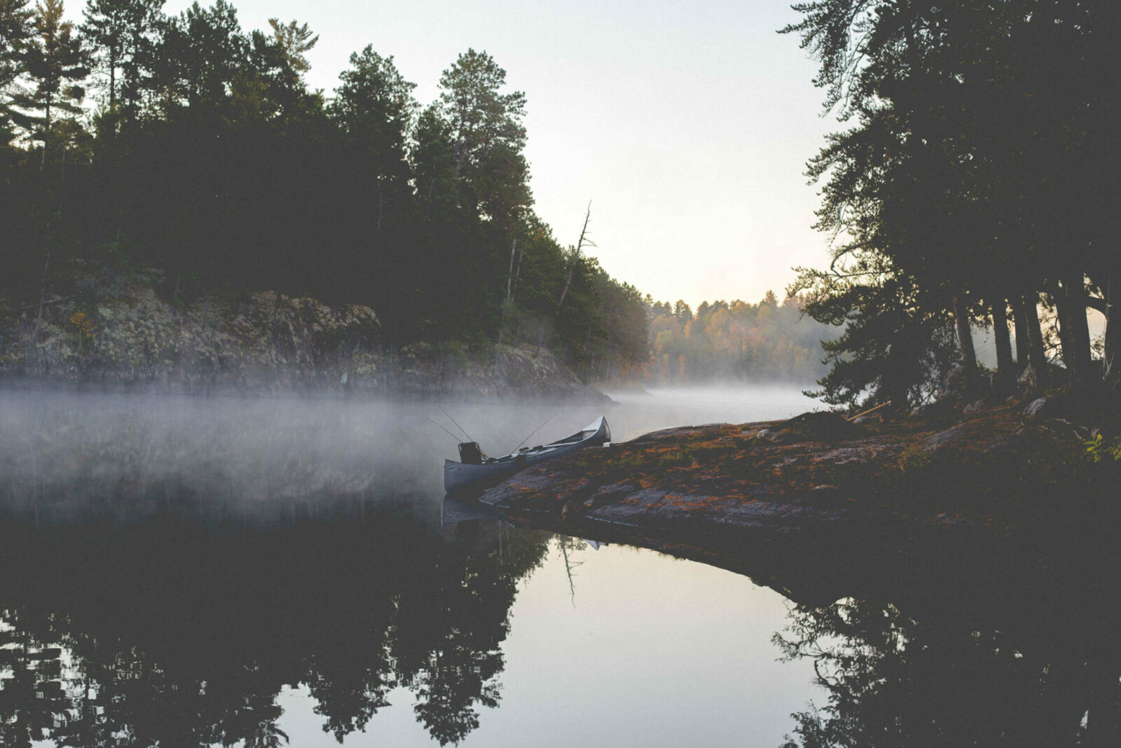 Fog setting on top of Boundary Waters
