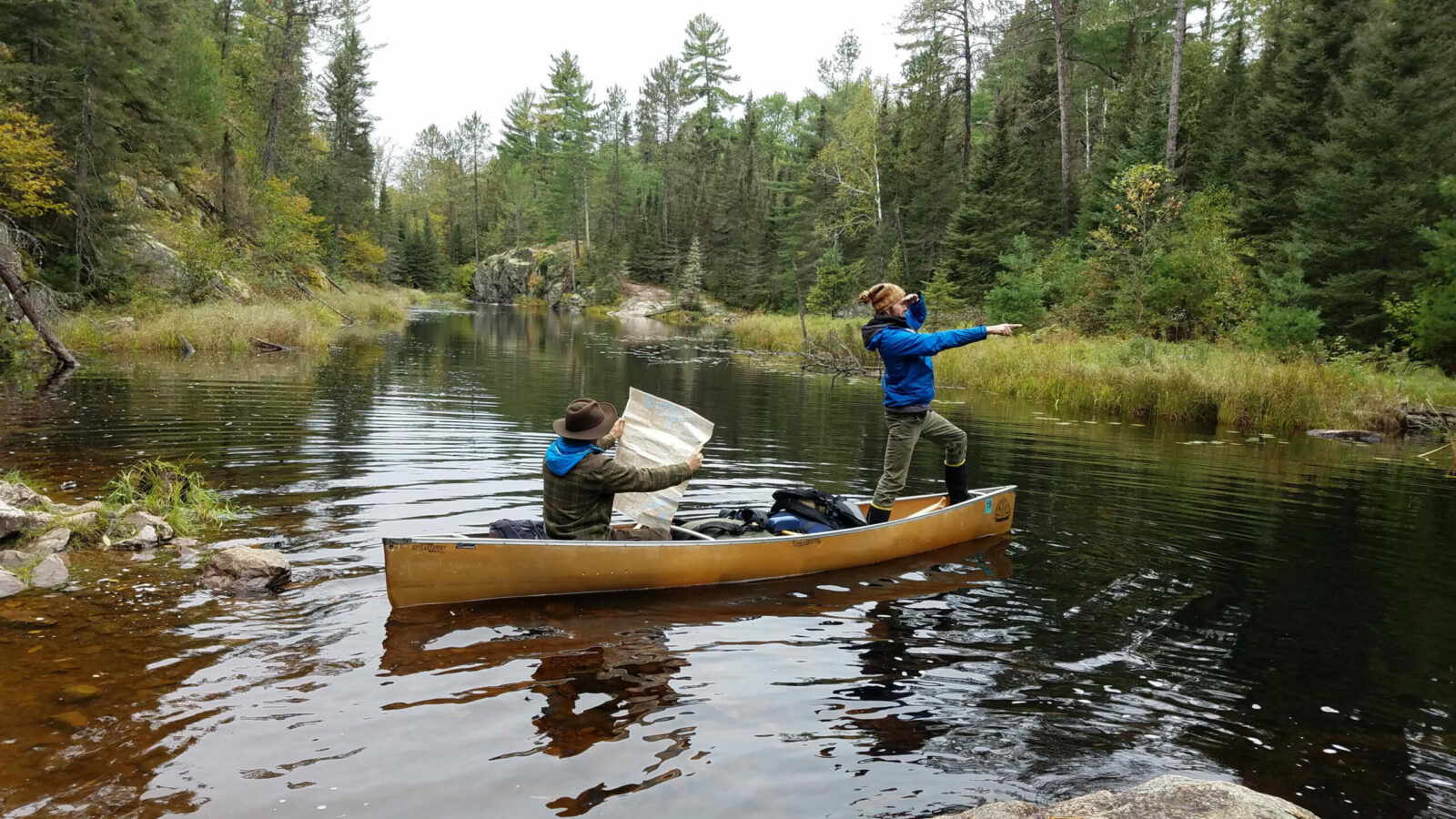 Image of canoers navigating the Boundary Waters