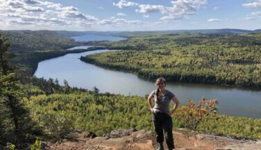 Author Annie Nelson on the Border Route Trail