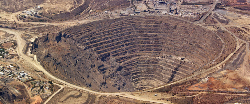 Aerial shot of a Polymet mine.