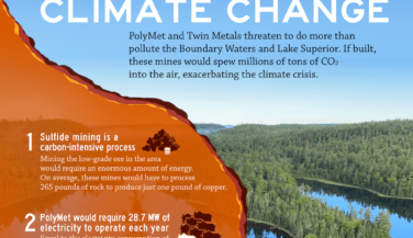 Copper Sulfide Mining would drive Climate Change - infographic