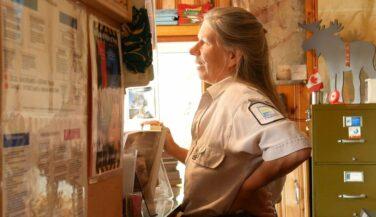 Janice Matichuk at the ranger station.
