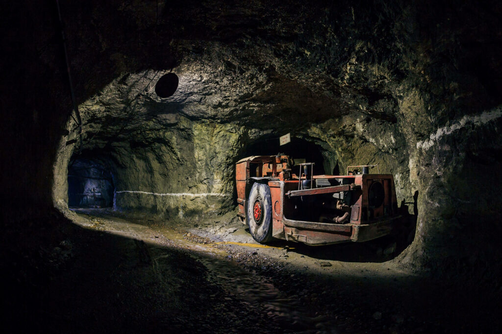 Image of a mine tunnel created by Twin Metals mining.