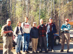 Image of a group of people standing at the Boundary Waters