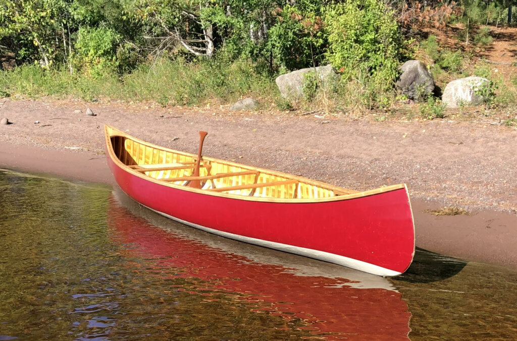 Win this wooden canoe!