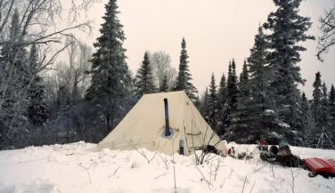 Hot Tent in the snow