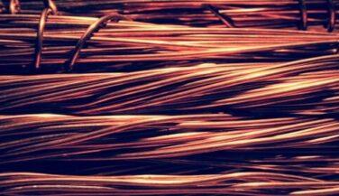 Copper wires in bulk