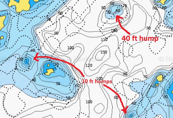 Sample map showing lake depths