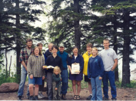 Image of a group of people at the Boundary Waters